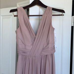 Dessy 2894 color Topaz chiffon dress